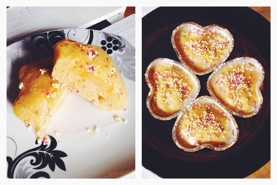 Sojajoghurt-Mango Muffins mit Zitronenzuckerguss