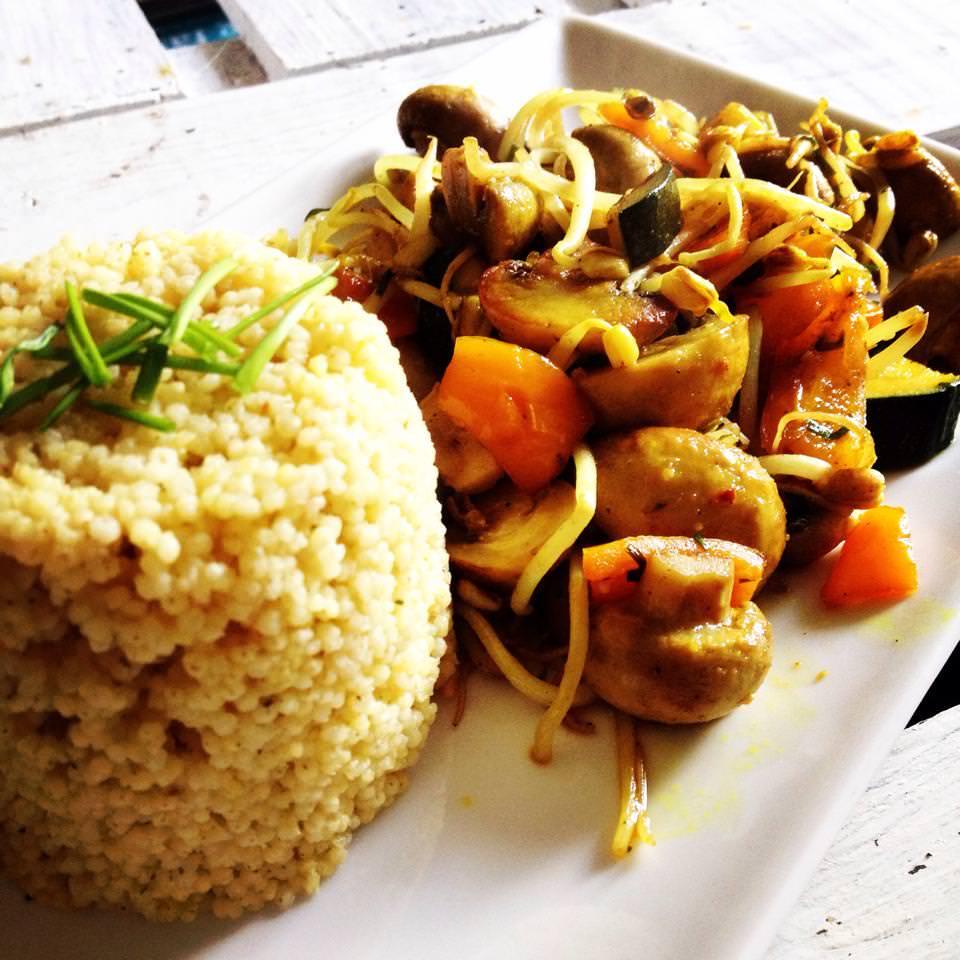 Hirse mit Asia-Gemüse