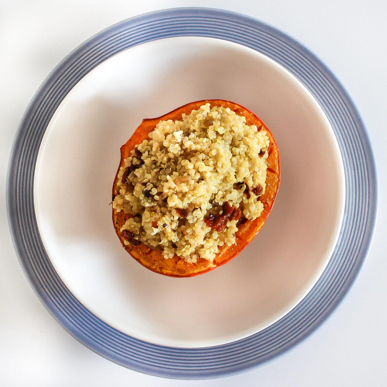 Kürbis mit würzigem Quinoa