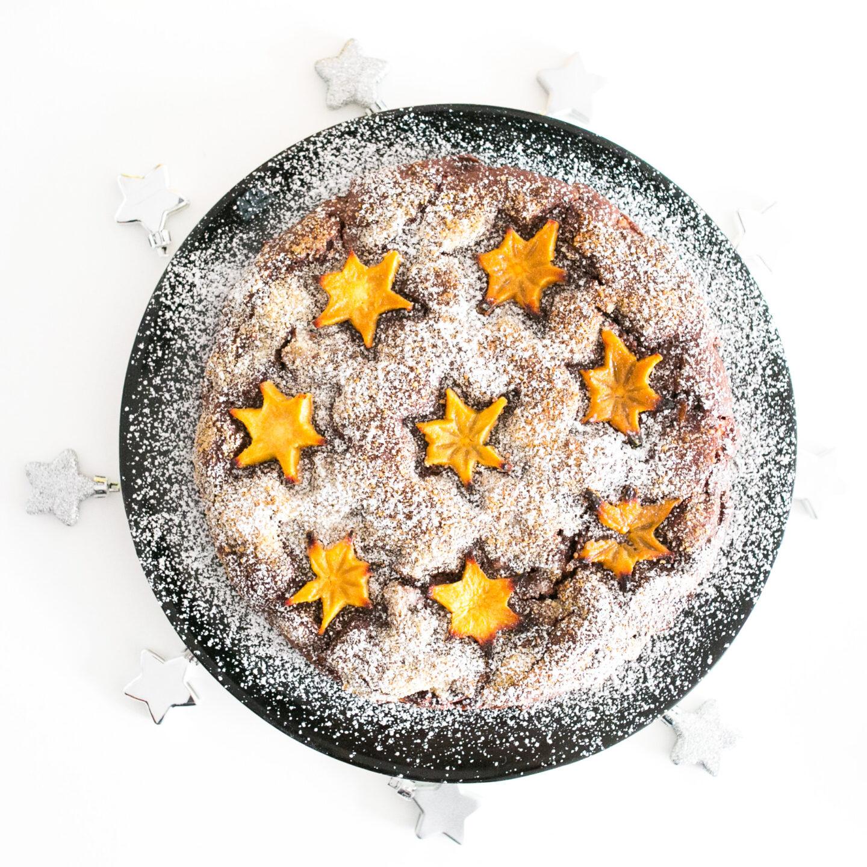 Kaki Weihnachtskuchen