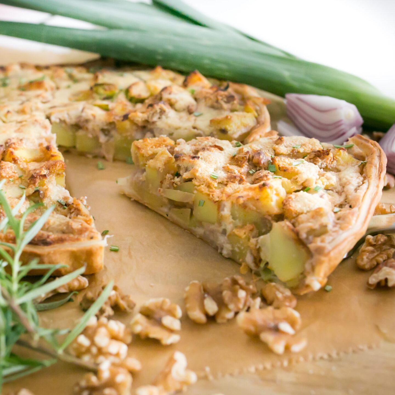 Kartoffel-Lauch Tarte mit Walnüssen