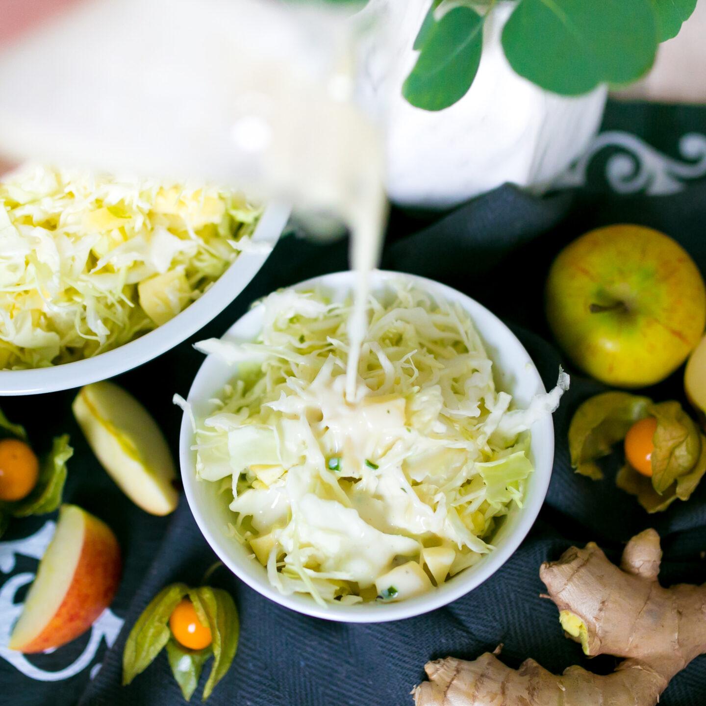 Winterlicher Spitzkohlsalat