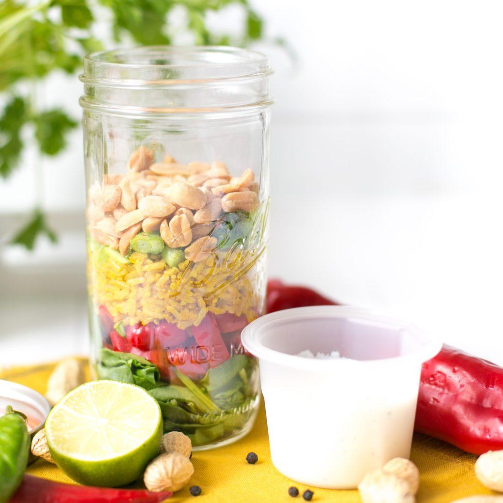 Salat mit Erdnüssen