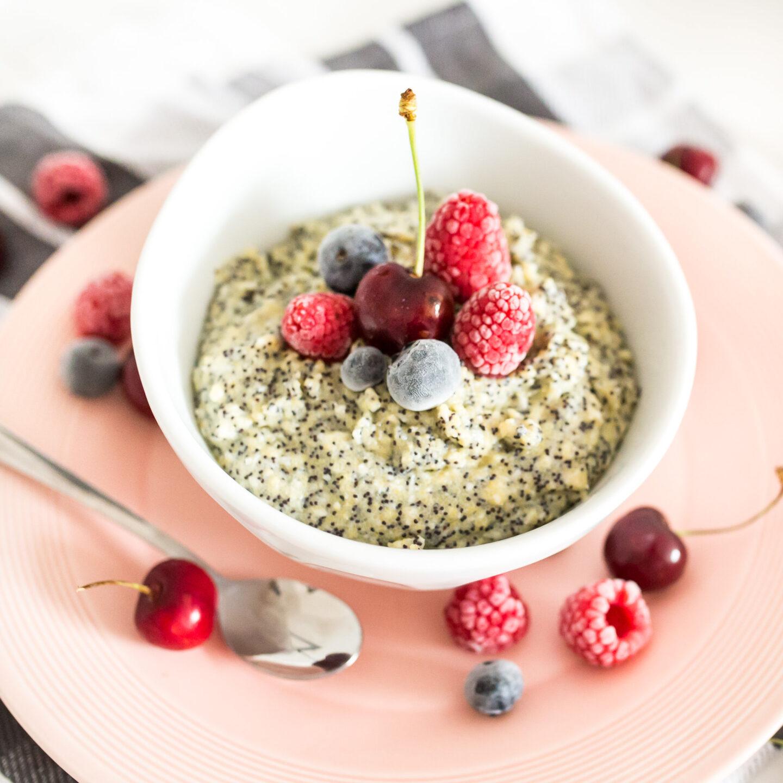 Veganes Frühstück mit Polenta