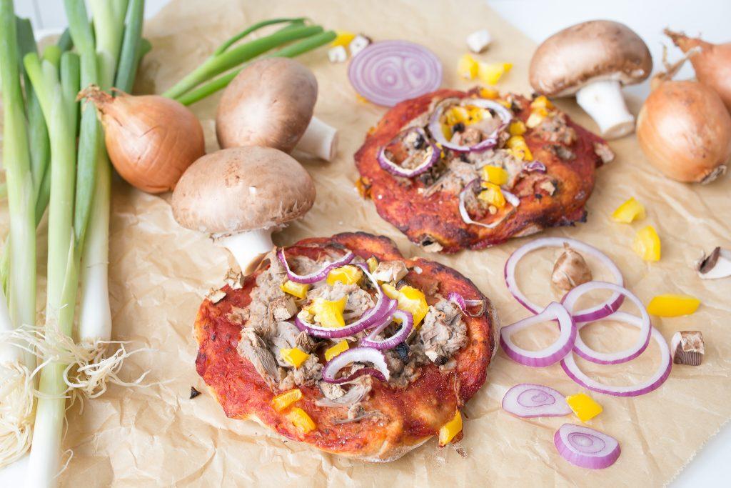 vegane Thunfischpizza