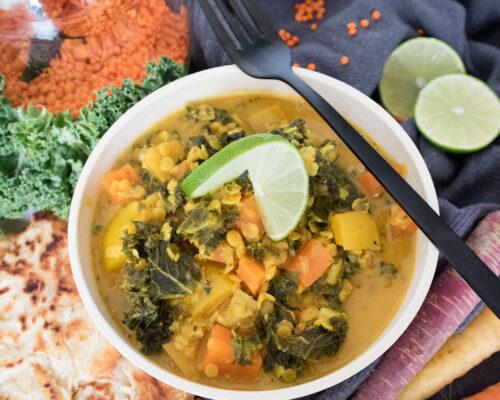 cremiges Curry mit Grünkohl